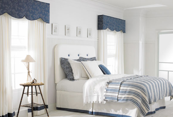Avondale upholstered cornice boards